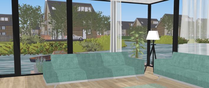 3D visualisatie Leeuwarder wijk Techum